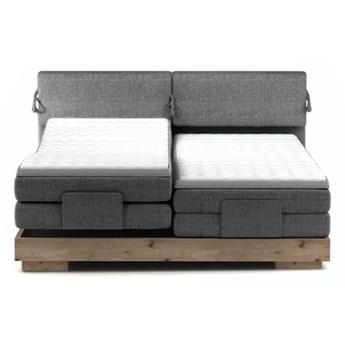 Łóżko kontynentalne 180 Valva - Kolor: Szary