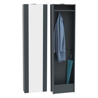 Szafa obrotowa z lustrem i garderobą Cube - Kolor: Grafitowy 40x150x30