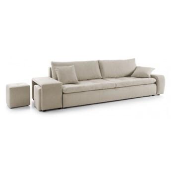 Sofa Mateo - Rozkładana z funkcją spania - Kolor: Beżowy 267x70x105