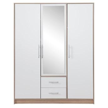 Szafa Smart z lustrem - Kolor: Dąb Sonoma/Biały 150x190x56