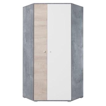 Szafa Sigma - Kolor: Beton/Biały Lux/Dąb 90x190x90