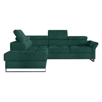 Narożnik Avanti - Rozkładany z funkcją spania - Kolor: Zielony 255x77x223