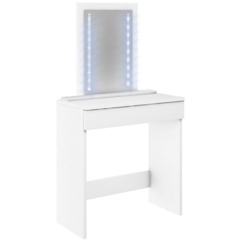Toaletka Megan z lustrem LED - Kolor: Biały Meble 72x142.5x32.5