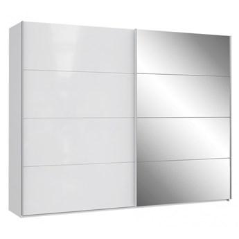 Szafa ubraniowa Sapporo - Kolor: Biały/Biały Połysk 270x210.5x61.2