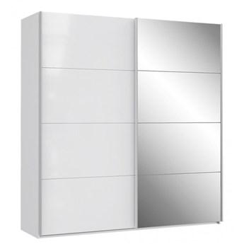 Szafa ubraniowa Sapporo - Kolor: Biały/Biały Połysk 200.1x210.5x61.2