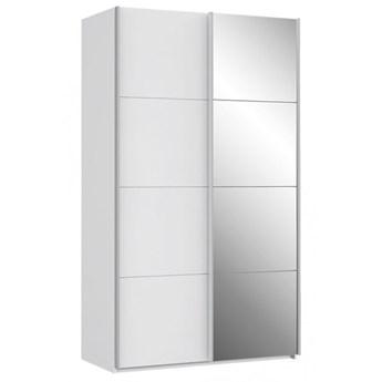 Szafa ubraniowa Sapporo - Kolor: Biały/Biały Połysk 120.1x210.5x61.2