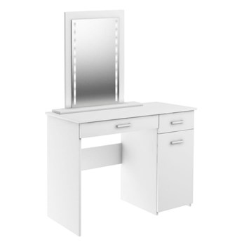 Toaletka z lustrem Adaś LED - Kolor: Biały Meble 88x141.8x45