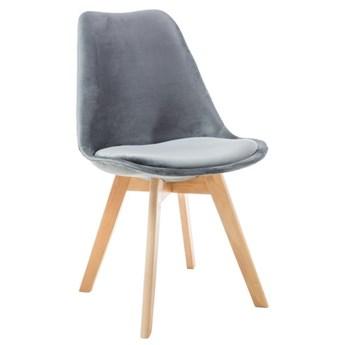 Krzesło Dior Velvet - Kolor: Szary 52x86x48