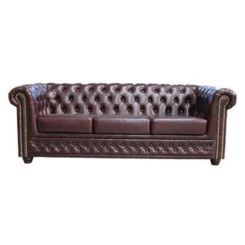 Sofa 3-osobowa Chesterfield York bez funkcyjna 203x72x86