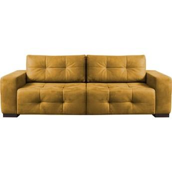 Sofa Cortez - Rozkładana z funkcją spania - Kolor: Musztardowy 251x89x108