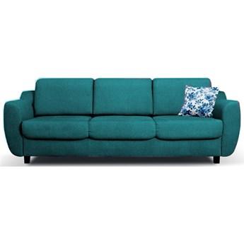 Sofa Milo - Rozkładana z funkcją spania - Kolor: Zielony 239x88x97