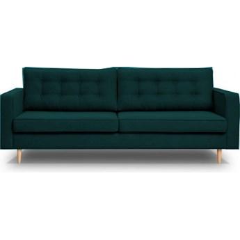 Sofa Tivoli - Rozkładana z funkcją spania - Kolor: Zielony 224x91x95