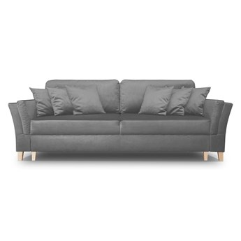 Sofa York - Rozkładana z funkcją spania - Kolor: Szary 248x90x110