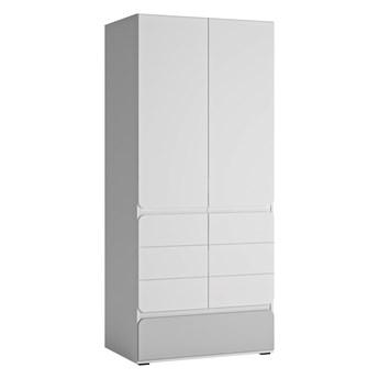 Dwudrzwiowa pojemna szafa z szufladą do pokoju dziecięcego Flexi 84x193.4x59.6