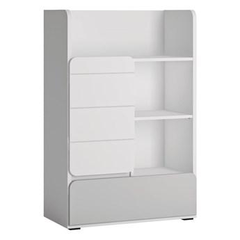 Praktyczny regał z drzwiami i szufladą do pokoju dziecięcego Flexi 76x117x41.6
