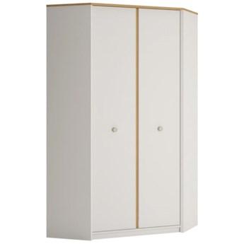 Duża szafa narożna 2-drzwiowa do pokoju dziecięcego Todi 98.5x190x98.5