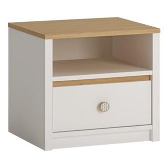 Praktyczna szafka nocna z szufladą do pokoju dziecięcego Todi 45x42x42