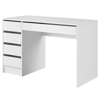 Biurko Ada - 120x55 cm - Kolor: Biały/Biały Połysk