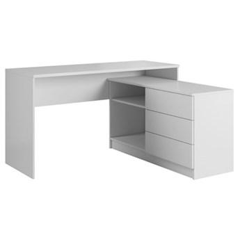 Biurko Teo - 138,2x50,4 cm - Kolor: Biały Matowy