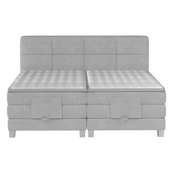 Łóżko kontynentalne 180 Square III - Kolor: Szary