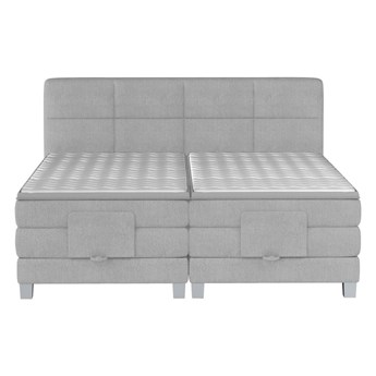 Łóżko kontynentalne 160 Square IV - Kolor: Szary