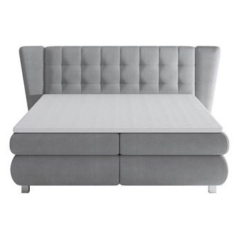 Łóżko kontynentalne 140 Florentino - Kolor: Szary
