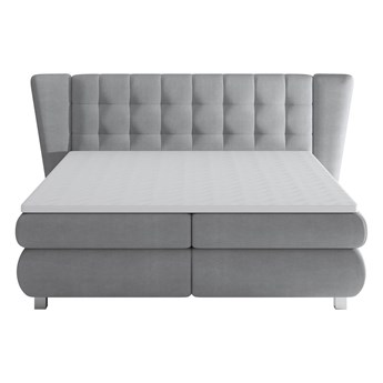 Łóżko kontynentalne 180 Florentino - Kolor: Szary