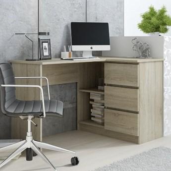 Młodzieżowe biurko narożne z 3 szufladami Aida 124x77x85