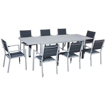 Zestaw mebli stołowych do ogrodu z krzesłami Verso