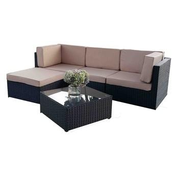 Zestaw ogrodowy z sofą, pufą i stolikiem Imin