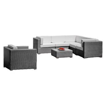 Zestaw ogrodowy z narożnikiem, fotelem i stolikiem Imin Delos