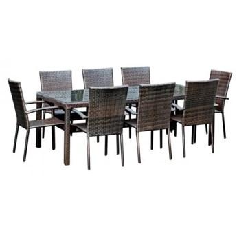 Zestaw mebli stołowych do ogrodu z 8 krzesłami Siena