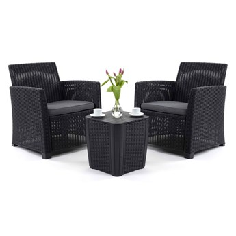 Zestaw do ogrodu z fotelami i stolikiem Bella Rosa