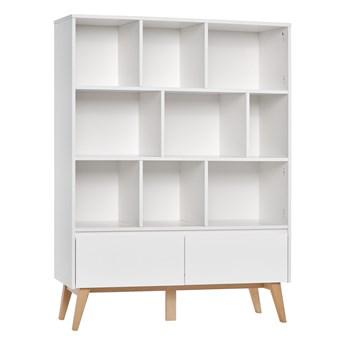 Pojemny regał z drzwiami i szufladami do pokoju dziecięcego Swing 120x160x42.5
