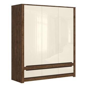 Pojemna szafa z drzwiami i szufladami do sypialni Ruso 178.5x204.5x60.5