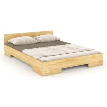 Łóżko drewniane sosnowe do sypialni Spectrum 140 niskie