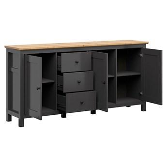 Pojemna komoda z drzwiami i szufladami do salonu i sypialni Hesen 199x96x44