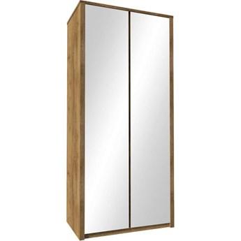 Pojemna szafa 2-drzwiowa z lustrem Maxim 113.3x196.7x53.3