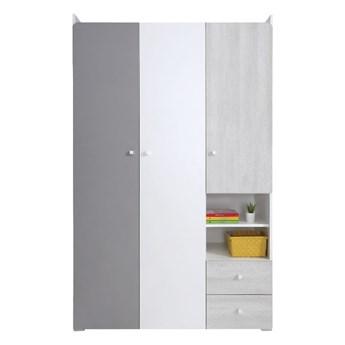 Pojemna szafa z drzwiami i szufladami do pokoju dziecięcego Como 120x190x50