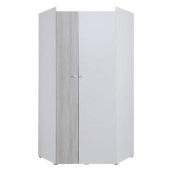 Pojemna szafa narożna z drzwiami do pokoju dziecięcego Como 90x190x90