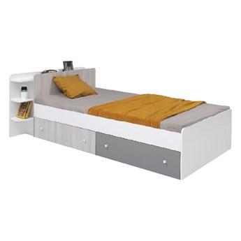 Nowoczesne łóżko o powierzchni spania 90cm z szufladami do pokoju dziecięcego Como