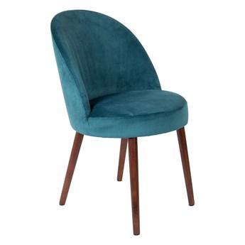 Krzesło Barbara aksamit niebieski 51x85.5x59