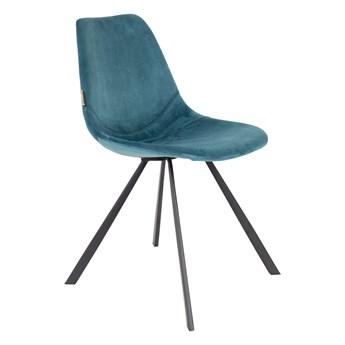 Krzesło Franky aksamit niebieski 46x83x56