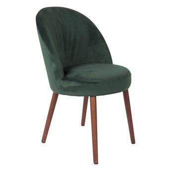 Krzesło Barbara aksamit zielony 51x85.5x59