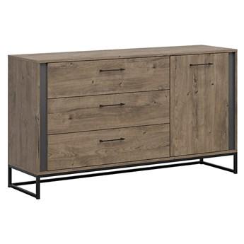 Duża komoda z szufladami i drzwiami do salonu Luton 160x89.5x44