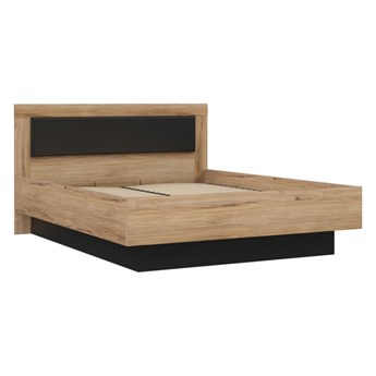Wygodne dwuosobowe łóżko z pojemnikiem do sypialni Dalate 165.5x98.5x206.3