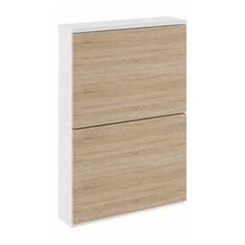 Szafka wąska Kate - Kolor: Biały/Sonoma 54x81x15