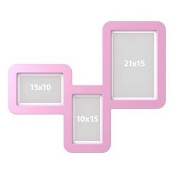 Ramki TriFrame - Kolor: Różowy