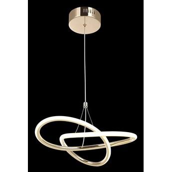 Nowoczesna złota lampa wisząca 80231-01-PM1-FG LEVES SALON SYPIALNIA JADALNIA LUCEA STL