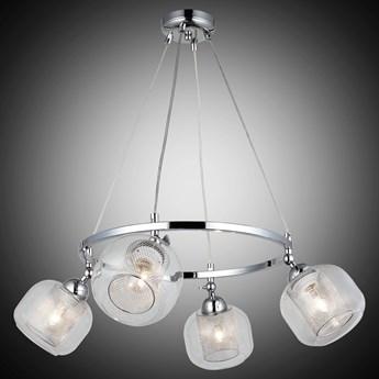 Lampa wisząca srebrna 1446-51-04 NONA  SALON SYPIALNIA JADALNIA LUCEA STL